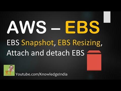 AWS EBS Tutorial : Create AWS EBS and Mount EBS on EC2 / Linux - YouTube