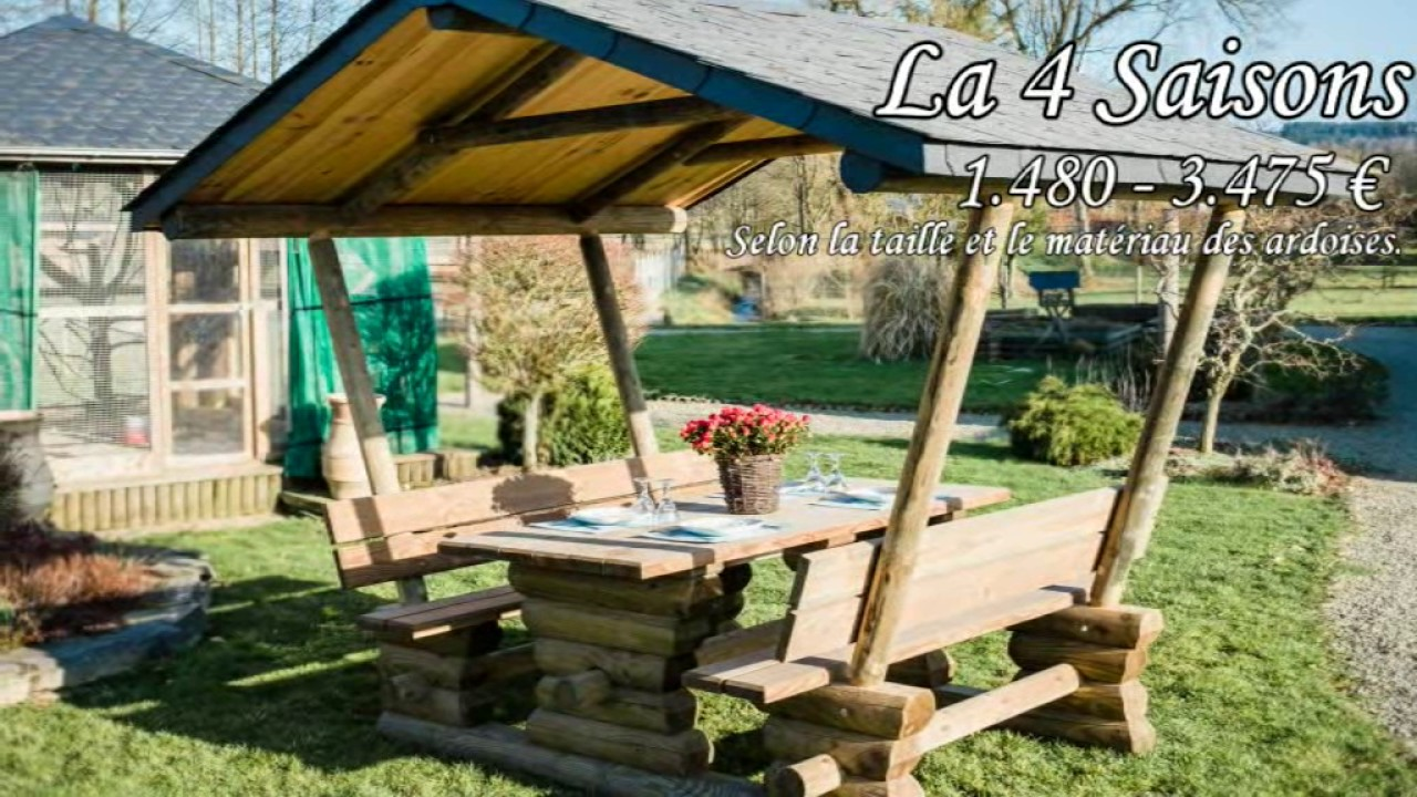 Huet Bois, producteur de mobilier de jardin 100% Local - YouTube