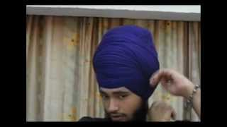 Repeat youtube video How To Tie Dumalla (Sikh Turban) : Nihang Style