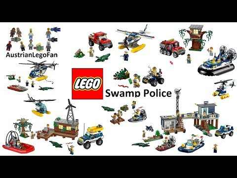 All Lego City Swamp Police Sets 2015 Compilation - Lego Speed Build Review