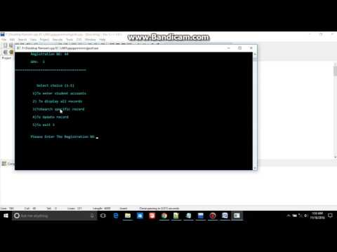Student Record storing using class and file handling c++ computer programing oop PART-2