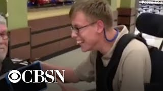 Boy in wheelchair gets personalized