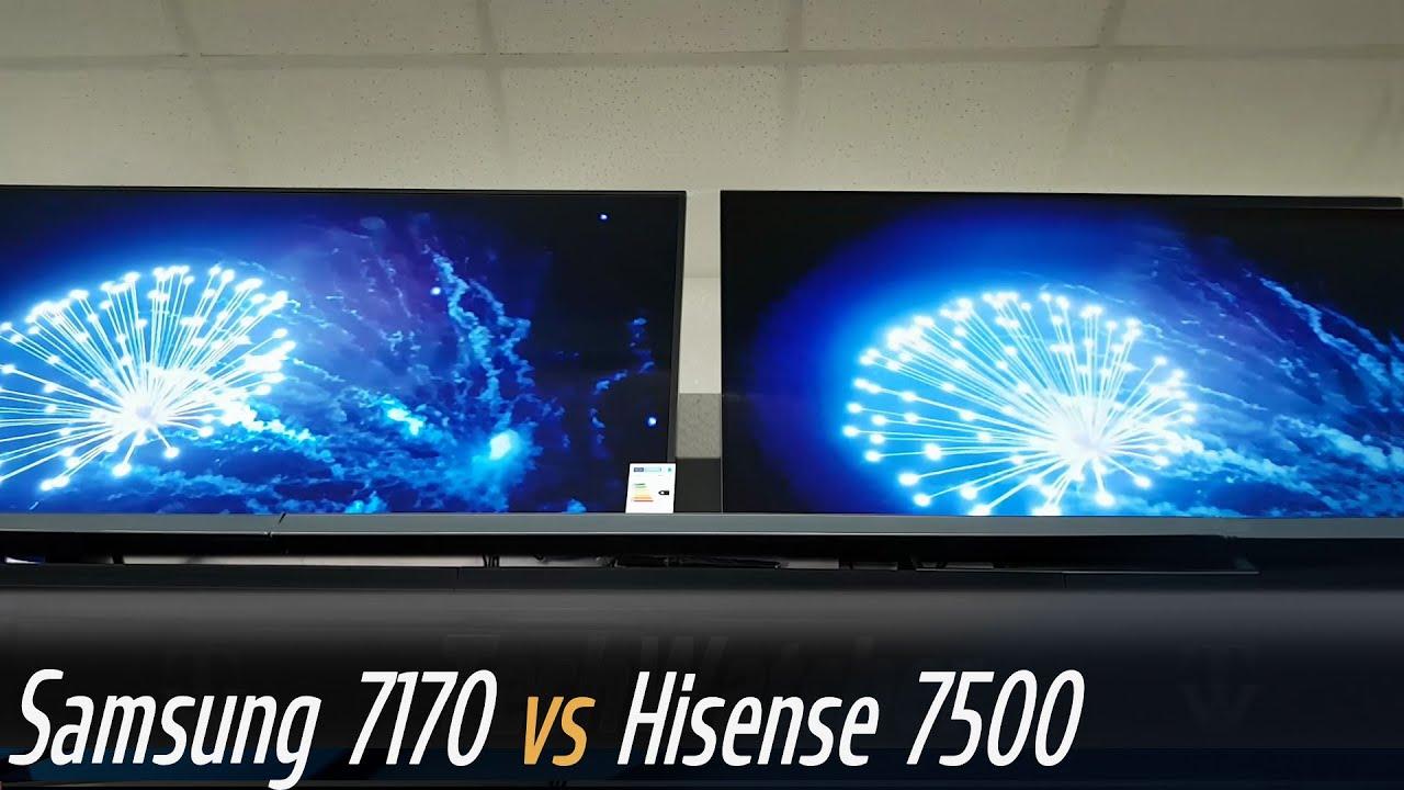 Samsung RU7170 vs Hisense B7500 Smart TV - YouTube