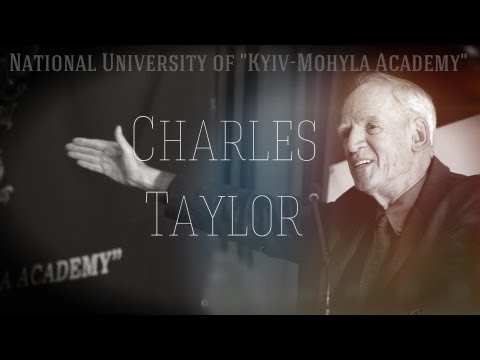 """Charles Taylor in National University of """"Kyiv-Mohyla Academy"""""""