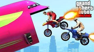 GTA 5: Online - Extreme Oppressor Rocket Bike Stunts (Gunrunning Funny Moments & Fails)
