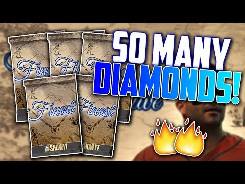 Opening 5 Finest Packs! (150,000 STUBS) MLB The Show 17 | Diamond Dynasty Pack Opening