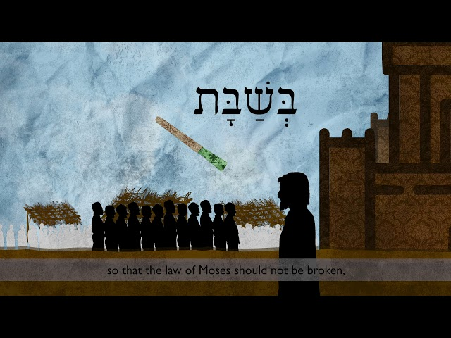 Gospel of John 7 in Hebrew (English Subtitles)