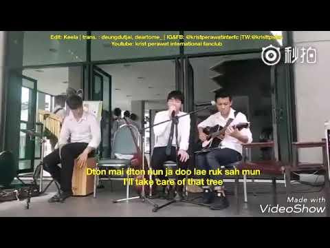 [Eng Sub] Krist Perawat singing จะได้ไม่ลืมกัน (So I Won't Forget You)