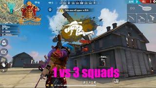 1 player vs 3 squads Unbelievable FreeFire 1 jugador contra 3 escuadrones Increíble / جلد فرى فاير