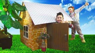 Дом для ДЕТЕЙ и РУМ ТУР Как сделать Детский домик / Pretend Play in DIY Playhouse for children