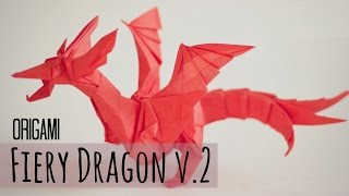 How to make an origami Fiery Dragon v.2 (Kade Chan)