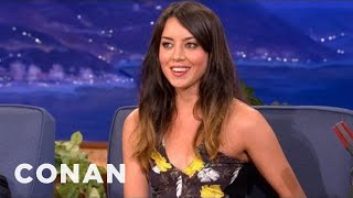 aubrey plaza f you old people i m going to live forever conan on tbs