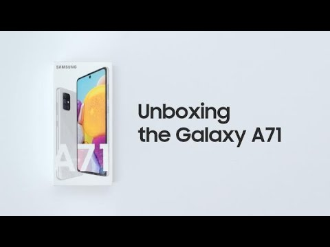 Galaxy A71: Official Unboxing | Samsung