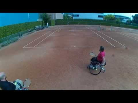 Wheelchair tennis training June 17 2015