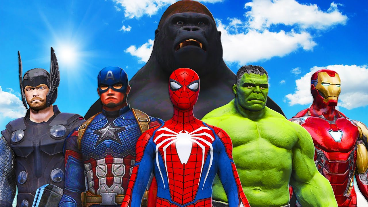 THE AVENGERS vs KING KONG - Epic Superheroes Battle