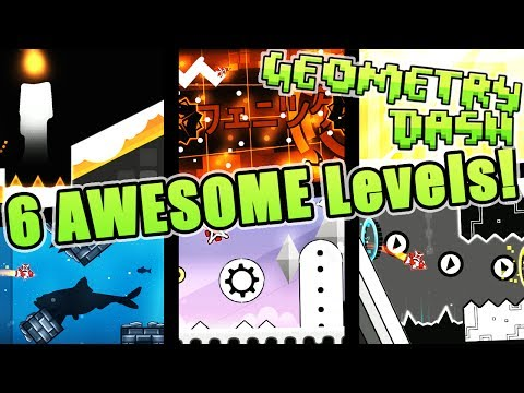 Geometry Dash 6 AWESOME 2.1 Levels ~ [Flickering, Challenger Deep, Spaceless, Phoenix and More!]