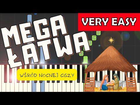 🎹 Wśród nocnej ciszy - Piano Tutorial (MEGA ŁATWA wersja) 🎹