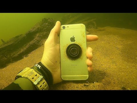 I Found an iPhone Underwater in the River While Swimming! River Treasure