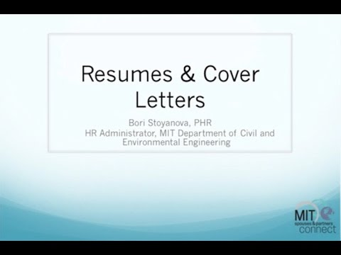 Spouses  Partners Connect - Resumes and Cover Letters - YouTube