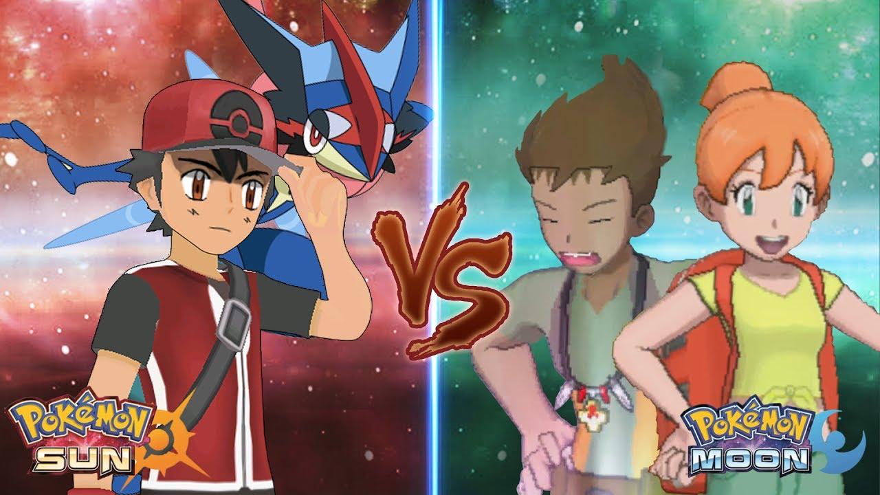 1f1f1b462b2d Pokemon Sun and Moon  Champion Ash Vs Brock and Misty - YouTube
