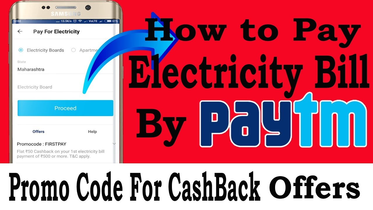 How To Pay Electricity Bill By Paytm   Promo Code And CashBack Offers
