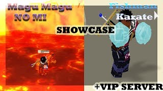 [008] MAGU MAGU NO MI + FISHMAN KARATE SHOWCASE| Ro-Piece| ROBLOX