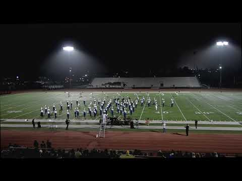 Yorba Linda High School Band and Color Guard at PYLUSD Band Pageant 11-6-19