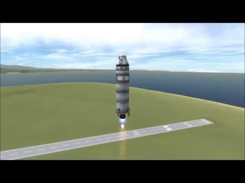 KSP - Blue Origin style suborbital flights using KOS