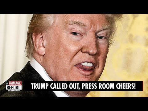 Trump Called Out, Press Room CHEERS!
