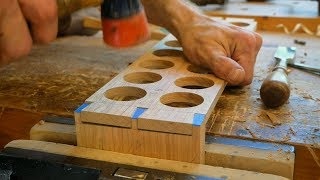 Making A Handcrafted Egg Tray // Hand Cut Dovetails