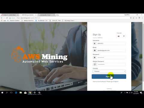 AWS Mining  { How To Register Account URDU -HINDI}