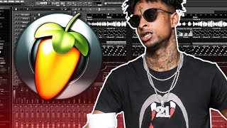 MAKING A BEAT FROM SCRATCH FOR 21 SAVAGE'S NEXT PROJECT | FL Studio Tutorial