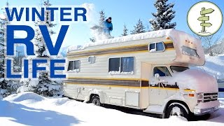 Couple Living in an RV in Winter & Living in a Van in Summer Video