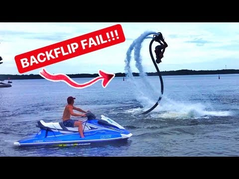 FIRST TIME On A FLYBOARD! BACKFLIP Attempts!!!