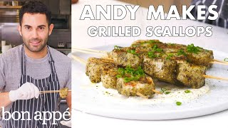 Andy Makes Grilled Scallops | From the Test Kitchen | Bon Appétit