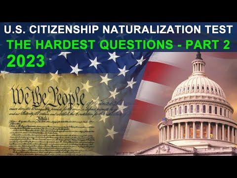 U.S. Citizenship Naturalization Test 2020 - Hardest ...