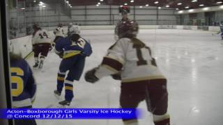 Acton Boxborough Girls Ice Hockey at Concord 12/12/15
