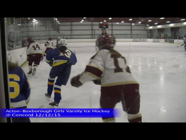 Acton Boxborough Girls Ice Hockey at Concord 12/12/15