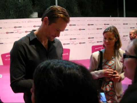 Alexander Skarsgård, Kristin Bauer and Valentina Cervi at Roma Fiction Fest 2012