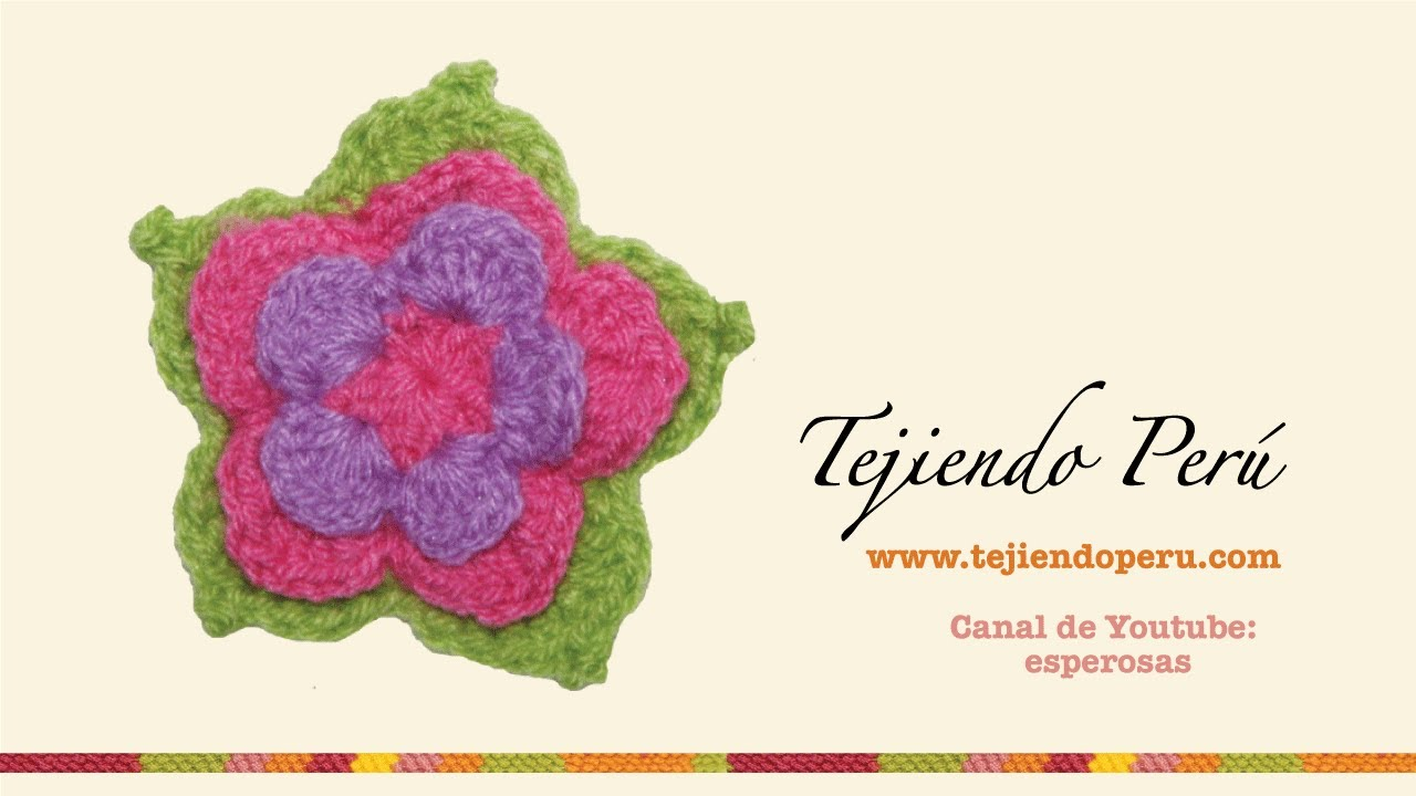 Flor de loto tejida a crochet - YouTube