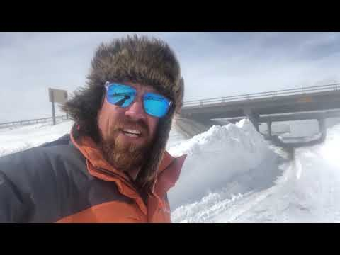 MONSTER SNOW drifts with blizzard aftermath in southeast Wyoming