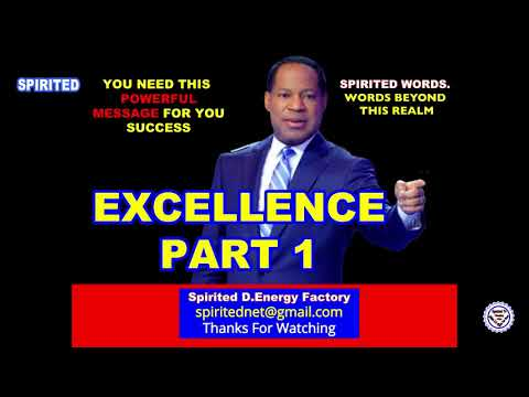 PASTOR CHRIS OYAKHILOME TEACHING: EXCELLENCE PART 1 (A MUST WATCH)