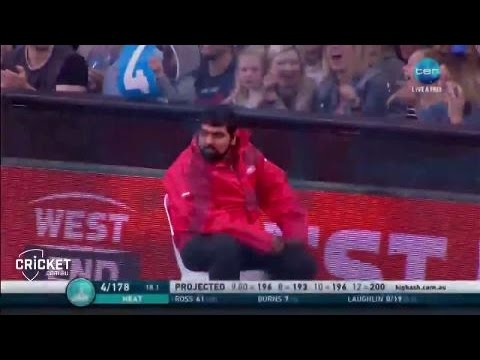 Security guard takes classic catch