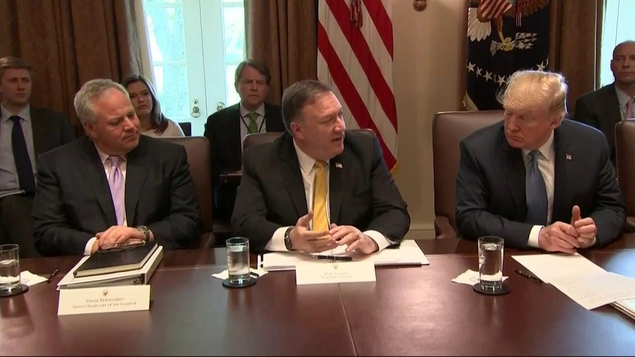 Secretary Pompeo Provides Update On North Korea At A Cabinet Meeting