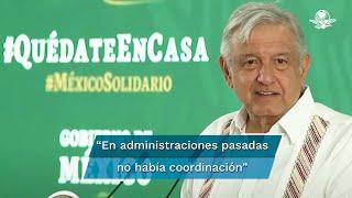 El presidente Andrés Manuel López Obrador destacó que a diferencias de las pasadas administraciones en su gobierno hay coordinación y perseverancia para combatir la inseguridad