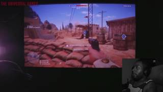 Battlefield 1 HD Projector Gameplay [Optoma HD141X]