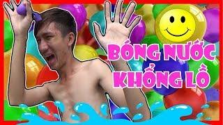 Phá Bong Bóng Nước Khổng Lồ   360hot REN Vlogs