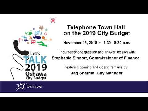 Telephone Town Hall on the 2019 City of Oshawa Budget