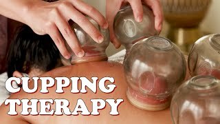 Trying fire cupping therapy for the first time! 😱
