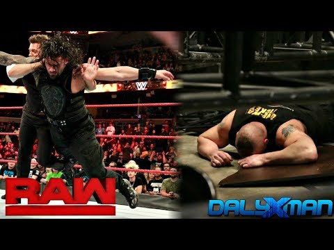 WWE RAW 1/8/18 REVIEW & RESULTS :: Miz Returns :: Strowman Drops a Scaffold on Kane & Lesnar!